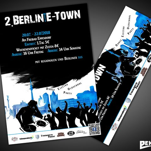 Plakat Berlin Meet E-Town