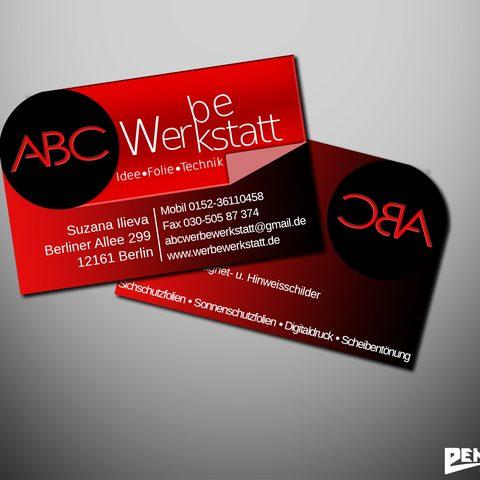 Visitenkartendesign ABC Werbewerkstatt