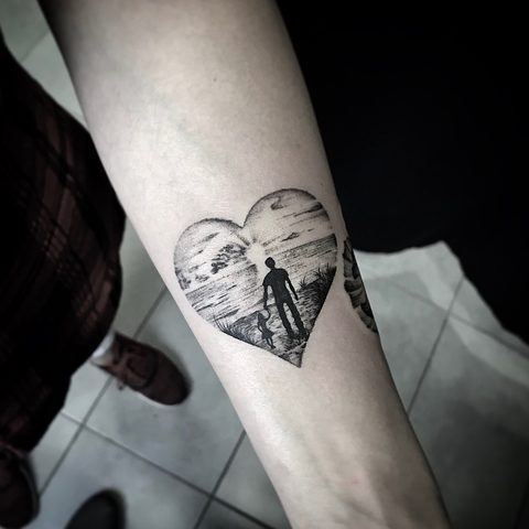 Bartek, Szulc, Selfmade, Tattoo, Berlin, Vegan, Realistic, Walkin,  heart, love, beach, herz