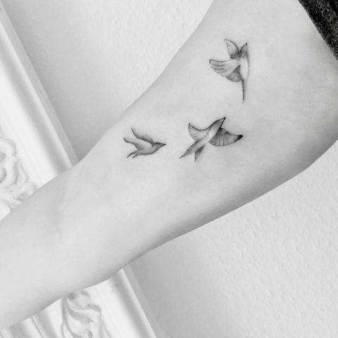Hanna, Leah, Selfmade, Tattoo, Berlin, Vegan, Walkin, Realistic, Fine, Voegel, Birds