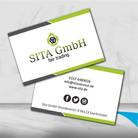 Sita GmbH Visitenkartendesign