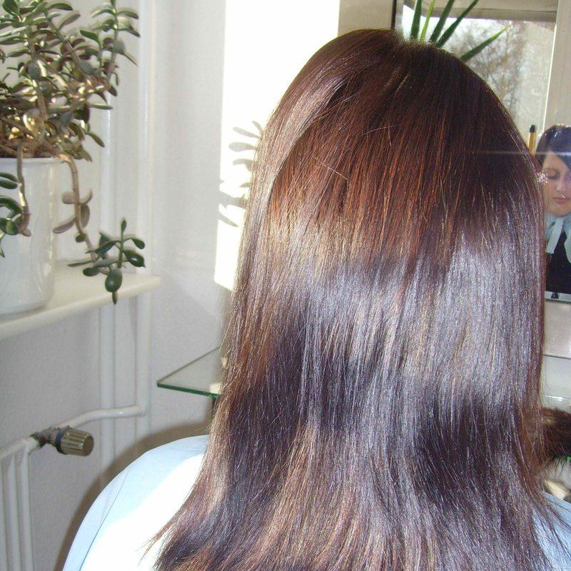 Haarverlängerung -Schritt 1