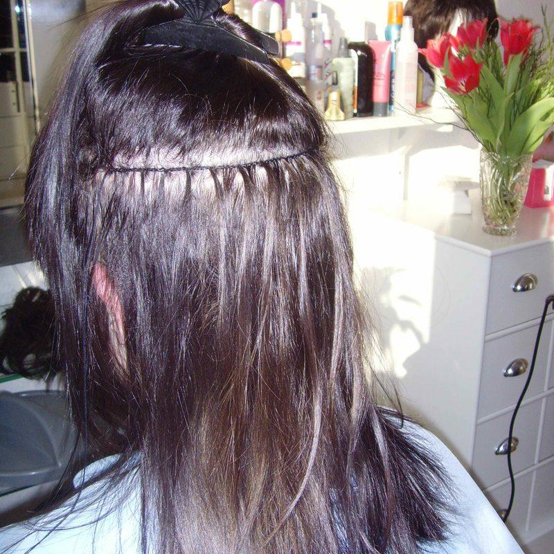 Haarverlängerung -Schritt 2