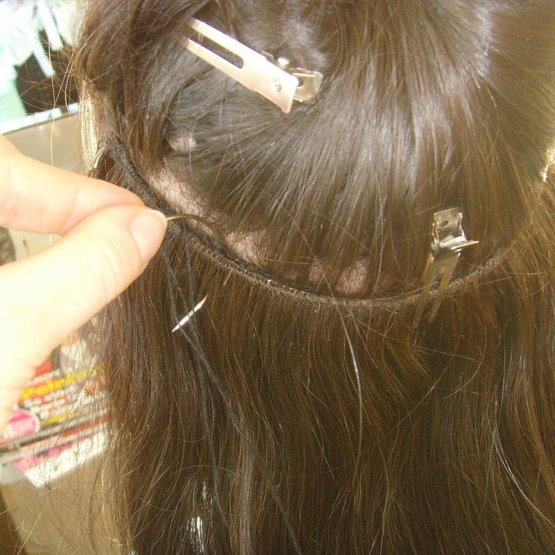 Haarverlängerung -Schritt 3