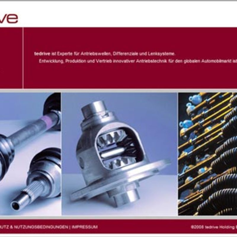 Tedrive Steering Systems | Website, Intranet, Broschüren
