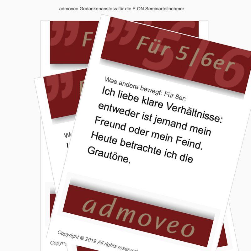Admoveo - EON |Automatisiertes 75-stufiges Newslettermarketing als Seminarbegleitung (Mailchimp)