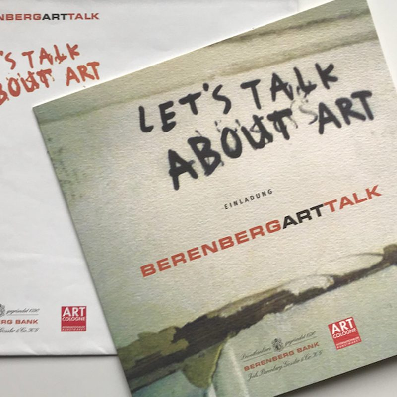 Berrenbank Bank | Art Talk. Einladungen, Onlineregistration