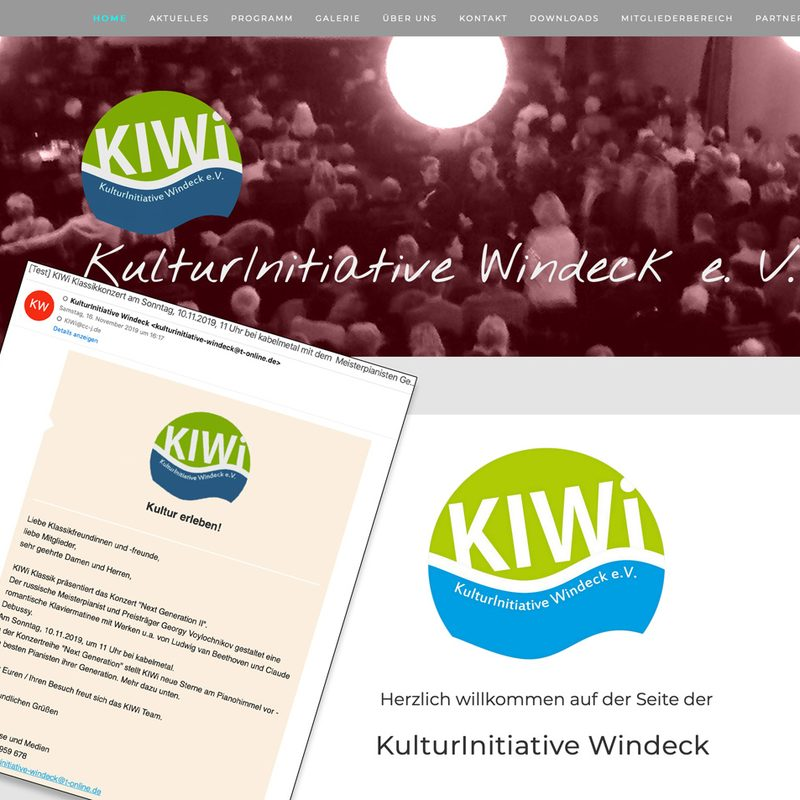 KulturInitiative Windeck | Newslettermarketing (Mailchimp), lfd. Beratung