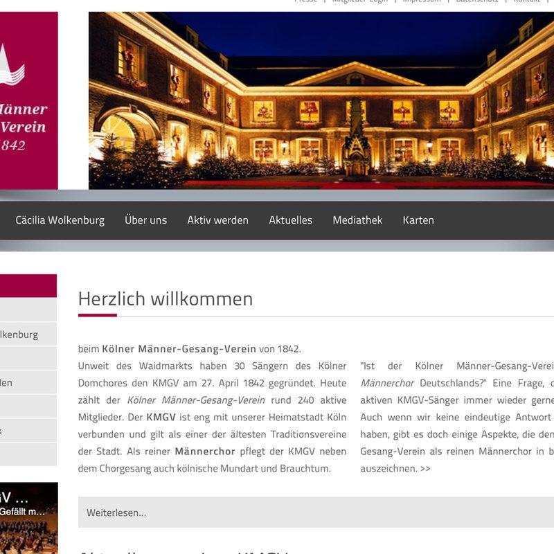KMGV - Kölner Männer Gesang Verein | Website (Contao)
