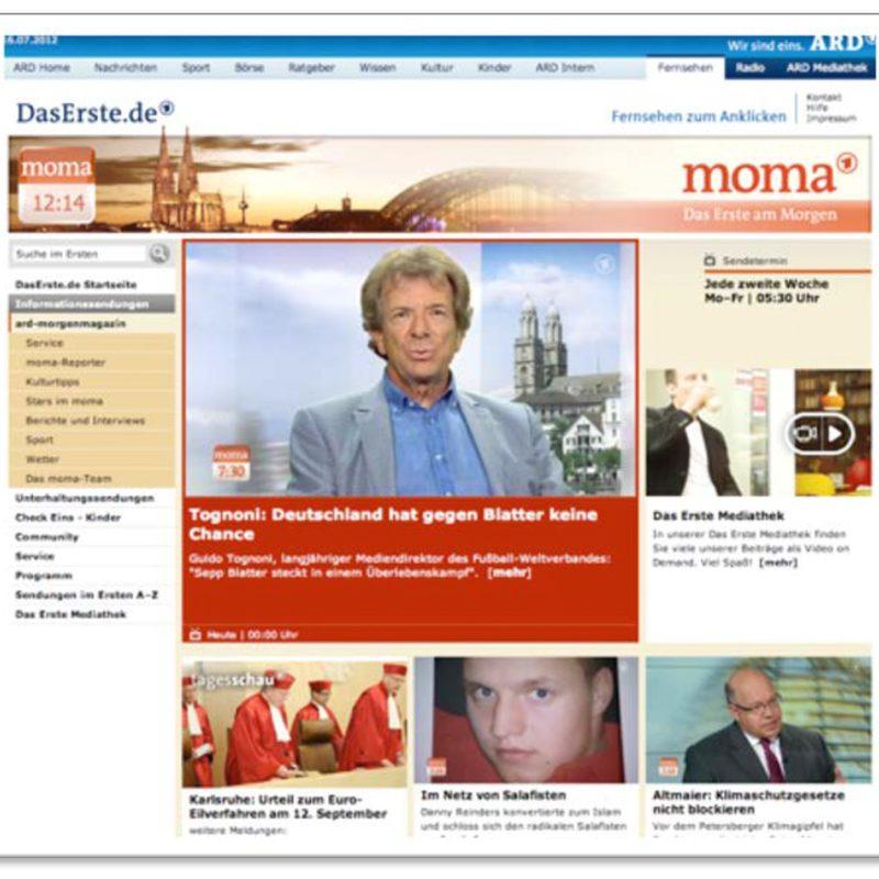 ARD-Morgenmagazin | Beratung und Gestaltung beim Web-Relaunch (CMS Sophora)