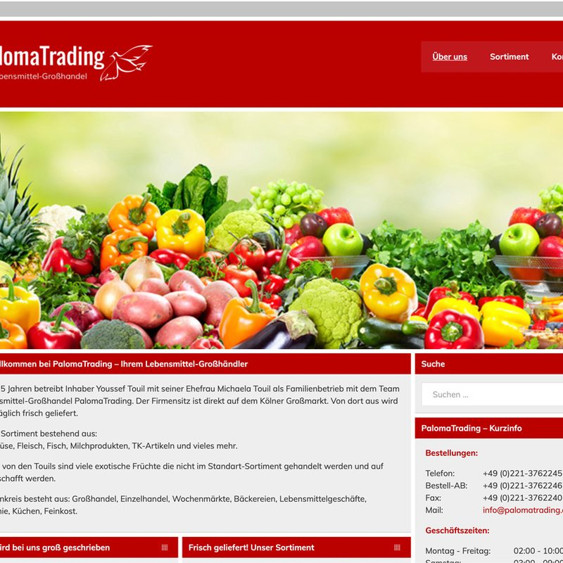 Paloma Trading | Website (WordPress), Logo, technische Betreuung DATEV
