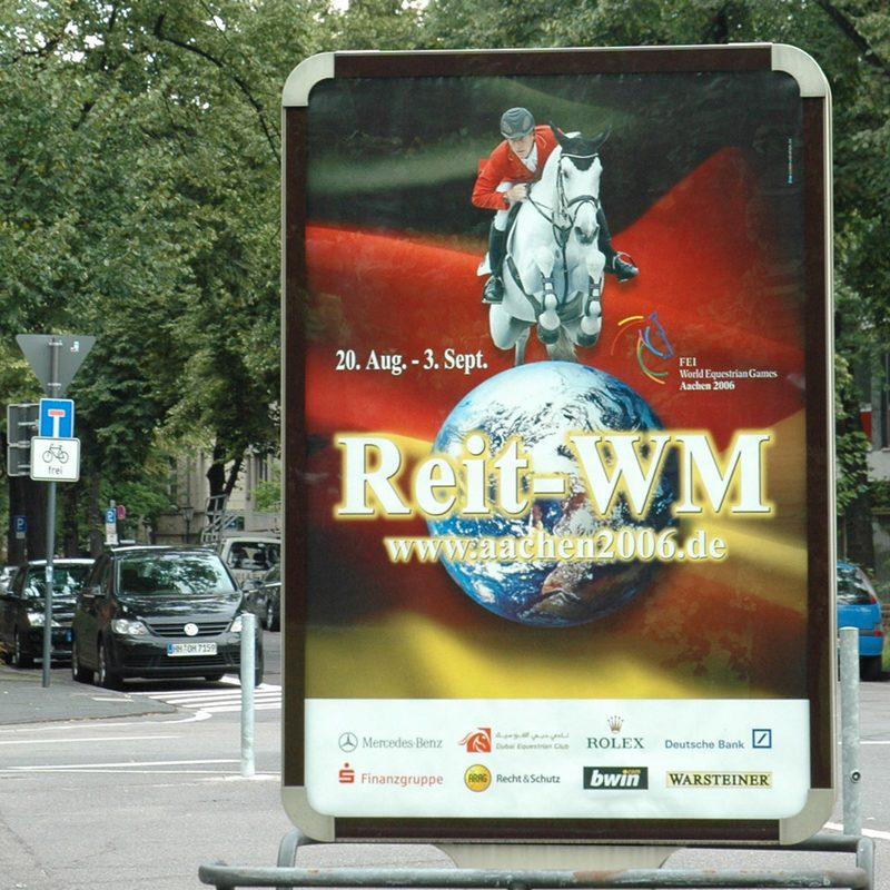 CHIO Aachen Reit-WM | Out-of-Home Media, Online Werbemittel zur Reit-WM und CHIO