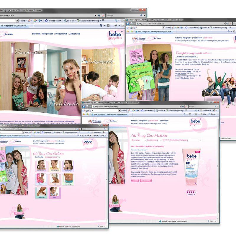 bebe YoungCare | Website – Regelmäßige Online-Promotions/Gewinnspiele. Newsletter