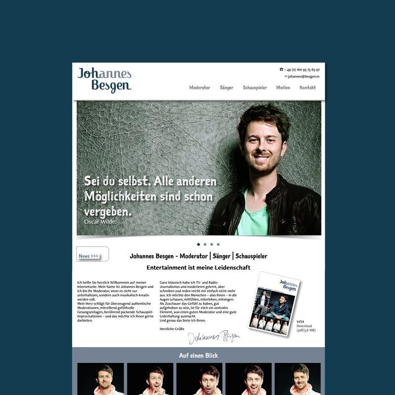 Johannes-besgen.de | Website für den Moderator - Sänger - Schauspieler
