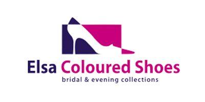 Das Logo des Brautschuhe Herstellers Elsa Coloured Shoes.
