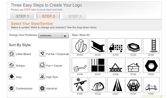 Zillion Design Schritt 2